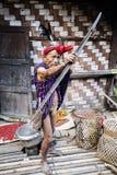 Homme traditionnel de tribu de Chin Photo stock