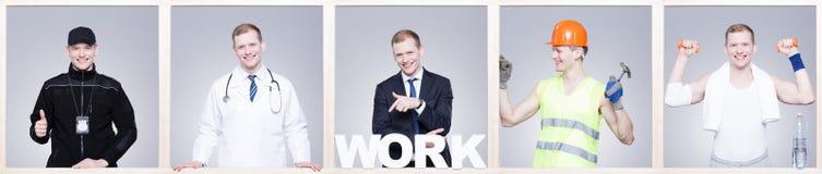 Homme travaillant avec passion ! Images stock