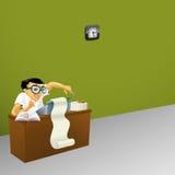 Homme travaillant dans le bureau Photo stock