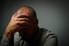 Homme triste Photo libre de droits