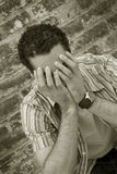 Homme triste photographie stock