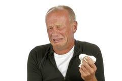 Homme triste pleurant Photographie stock libre de droits