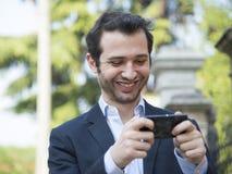 Homme urbain de technologie Photos stock