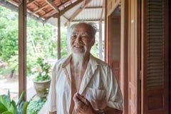 Homme vietnamien de 89 ans Image libre de droits