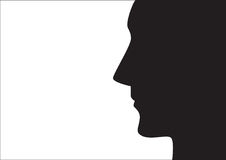 Homme, visage illustration stock