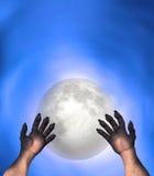 Homme Wolf Werewolf Perspective Hands Illustration Photographie stock libre de droits