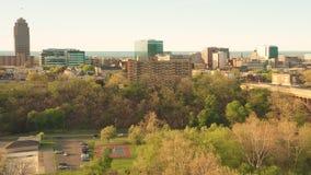 Hommel van Allentown, de brug van Pennsylvania en horizon wordt geschoten die stock video
