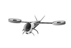 Hommel Vliegende Lucht Quadrocopter Logo Icon Stock Fotografie