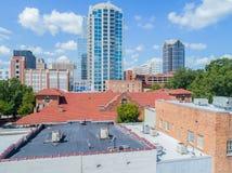 Hommelbeeld van Horizon, Stad van Raleigh, NC Stock Afbeelding