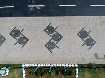 Hommelfoto van Barra da Tijuca-promenade, Rio de Janeiro, Brazilië Royalty-vrije Stock Foto