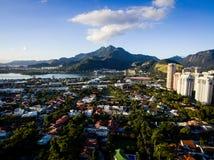 Hommelfoto van Barra da Tijuca, Rio de Janeiro, Brazilië Stock Fotografie