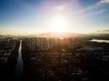 Hommelfoto van Barra da Tijuca, Rio de Janeiro, Brazilië Stock Foto's