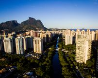 Hommelfoto van Barra da Tijuca, Rio de Janeiro, Brazilië Royalty-vrije Stock Foto