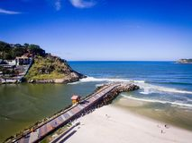 Hommelfoto van Barra da Tijuca-strand, Rio de Janeiro, Brazilië Royalty-vrije Stock Afbeelding