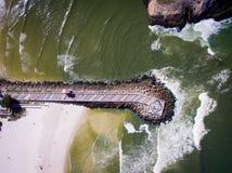Hommelfoto van Barra da Tijuca-strand, Rio de Janeiro, Brazilië Stock Afbeelding