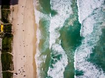 Hommelfoto van Barra da Tijuca-strand, Rio de Janeiro, Brazilië Stock Foto's