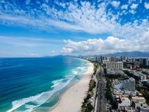Hommelfoto van Barra da Tijuca-strand, Rio de Janeiro, Brazilië Royalty-vrije Stock Foto