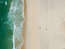 Hommelfoto van Barra da Tijuca-strand, Rio de Janeiro, Brazilië Stock Afbeeldingen