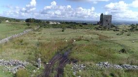 Hommellengte van tinmijn Dartmoor Nationaal Park het UK stock video
