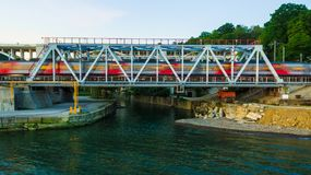 Hommelmening van spoorwegbrug Royalty-vrije Stock Foto's
