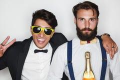 Hommes à la mode dans les costumes formels Photographie stock