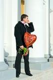 Hommes affectueux extérieurs Photographie stock libre de droits
