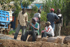 Hommes africains sans emploi Image libre de droits
