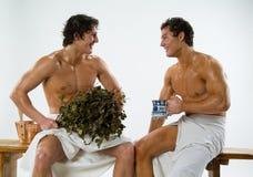 Hommes après Bath Photo stock