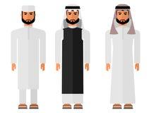 Hommes arabes dans une robe nationale Photos stock