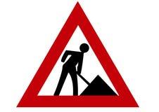Hommes au symbole de travail Images libres de droits