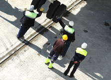 Hommes au travail Photos libres de droits