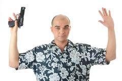 Hommes avec abandonner de canon Photographie stock libre de droits