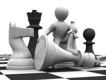 Hommes avec des échecs illustration libre de droits