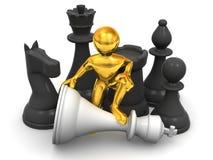 Hommes avec des échecs illustration stock