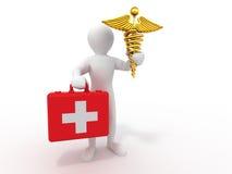 Hommes avec des symboles de médecine. 3d Image libre de droits