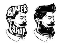 Hommes avec la barbe illustration stock