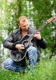 Hommes avec la guitare Photos libres de droits