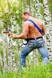 Hommes avec la guitare Photo libre de droits