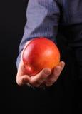 Hommes avec la pomme Images stock