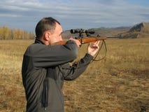 Hommes avec le canon Photographie stock libre de droits