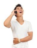 Hommes avec le téléphone Images libres de droits