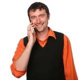 Hommes avec le téléphone portable Images libres de droits