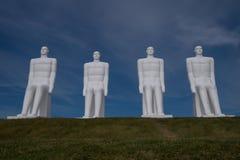 Hommes blancs, Esbjerg, Danemark image stock