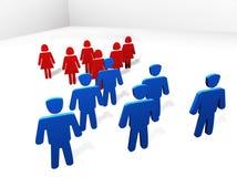 Hommes contre des femmes Illustration de Vecteur