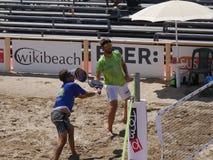 Hommes 2016 d'†de championnat du monde de tennis de plage d'ITF les «doublent le qualificateur Photographie stock libre de droits