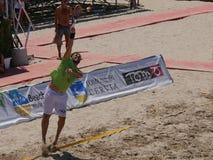 Hommes 2016 d'†de championnat du monde de tennis de plage d'ITF les «doublent le qualificateur Images libres de droits