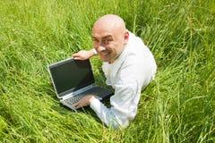 Hommes d'affaires adultes heureux image libre de droits