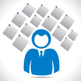 Hommes d'affaires avec la note de papier Images libres de droits