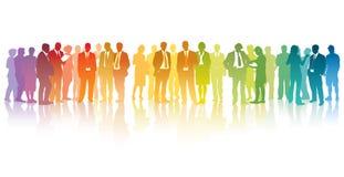 Hommes d'affaires colorés Image stock