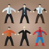 Hommes d'affaires, comptable, ballot d'intello Image stock